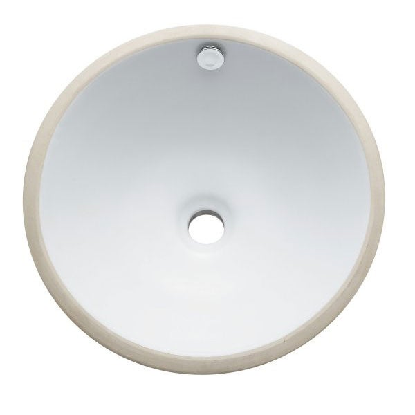 Courtyard Round Undermount White Lavatory Sink