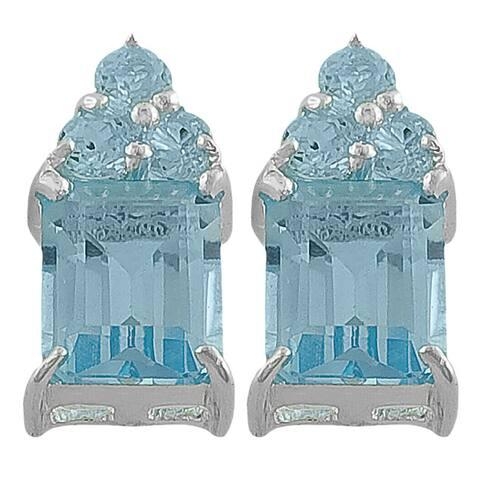 Fremada Sterling Silver Sky Blue Topaz Earrings