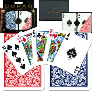 Copag 2-pack Plastic Poker-size Playing Cards (Case of 12)