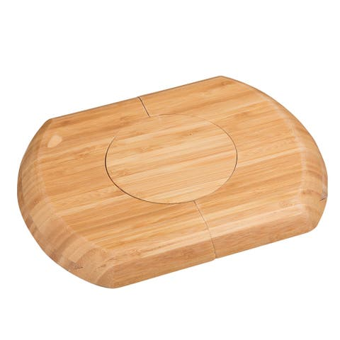 "Creative Home's 12'' x 7 5/8"" x 9/10"" Bamboo Expandable Trivet"