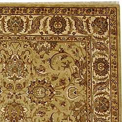 Safavieh Hand-knotted Beige/ Ivory Heritage Wool Rug (9' x 12') - Thumbnail 1
