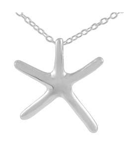 Journee Collection  Sterling Silver Small Starfish Necklace