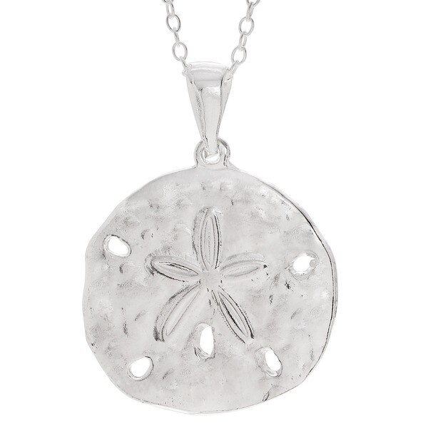 Shop sterling silver sand dollar pendant necklace free shipping on sterling silver sand dollar pendant necklace aloadofball Images
