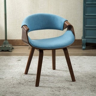 Wrap Around Back and Walnut Wood Dinning Arm Chair