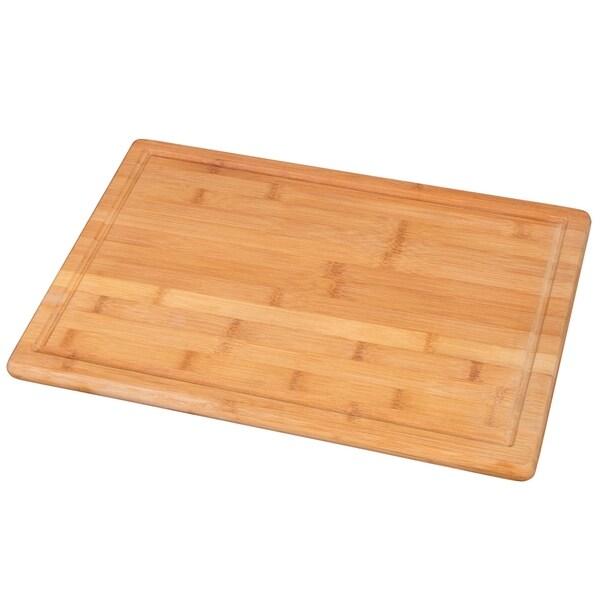 "Creative Home Exotic Natural Bamboo Cutting Board 12/"" W x 18/"" L"