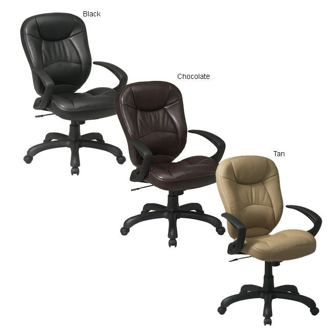 Office Star High-back Faux Leather Executive Chair