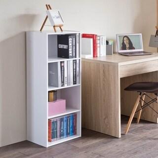 4 Tier Open Storage Cabinet Display Bookcase Stackable Organizer