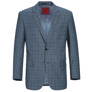 Link to Verno Men's Classic Fit Windowpane Plaid Wool Sport Coat Similar Items in Sportcoats & Blazers