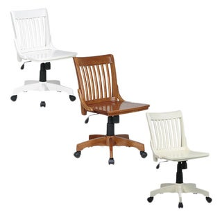 Office Star Deluxe Wooden Bankers Chair (3 options available)