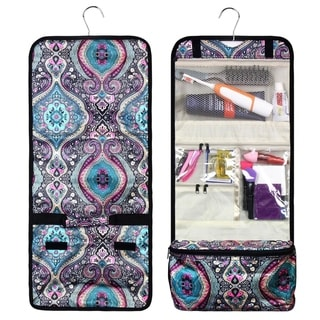 Link to Zodaca Women Cosmetic Tote Carry Bag Makeup Hanging Organizer Bag for Business Trip Camping Hiking Travel - Blue Paisley Similar Items in Travel Accessories
