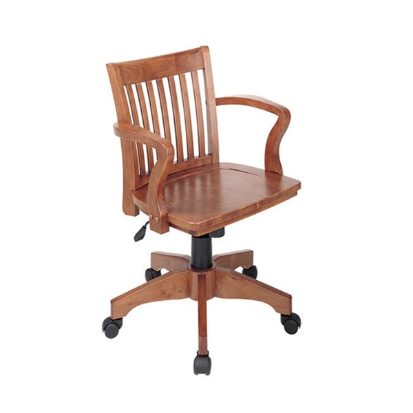 office star deluxe wood bankers chair