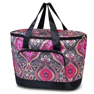 Link to Zodaca Women Large Leak Resistant Cooler Bag Tote Carry Bag for Park Beach Picnic Camping - Pink Paisley Similar Items in Picnic