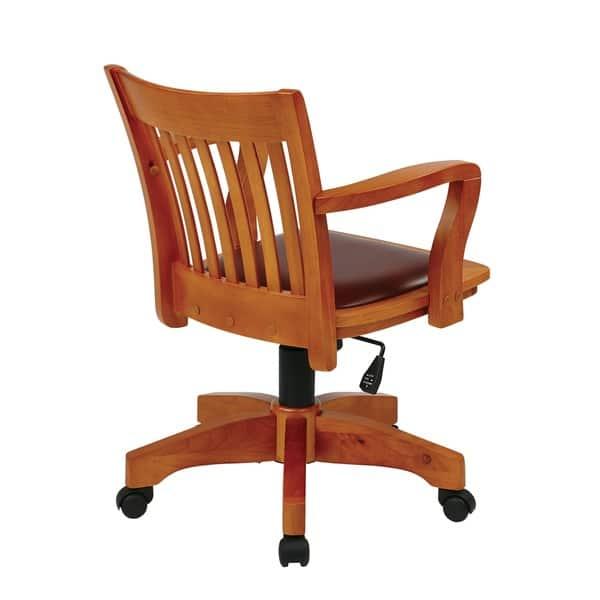 Excellent Shop Copper Grove Wilbur Vintage Padded Wood Bankers Chair Lamtechconsult Wood Chair Design Ideas Lamtechconsultcom