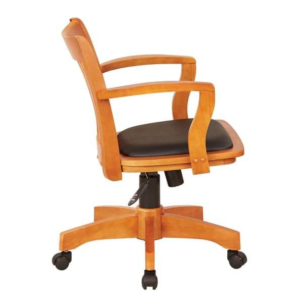 Fine Shop Copper Grove Wilbur Vintage Padded Wood Bankers Chair Lamtechconsult Wood Chair Design Ideas Lamtechconsultcom