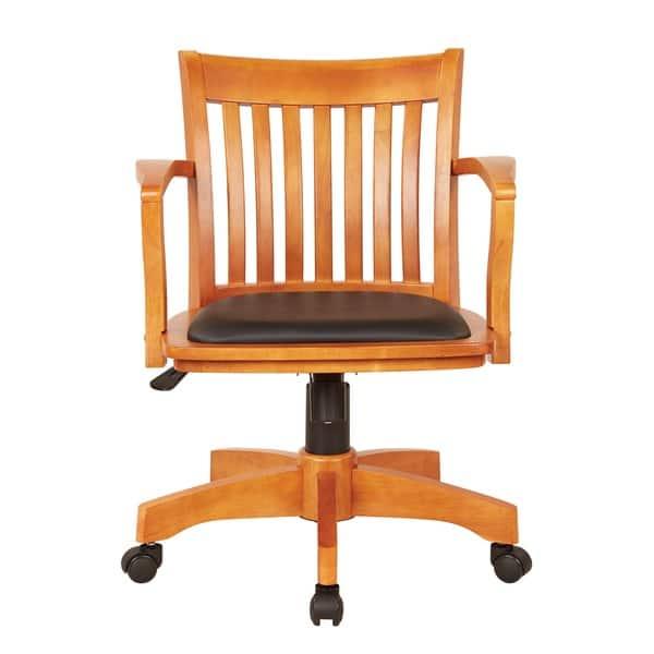Astounding Shop Copper Grove Wilbur Vintage Padded Wood Bankers Chair Lamtechconsult Wood Chair Design Ideas Lamtechconsultcom