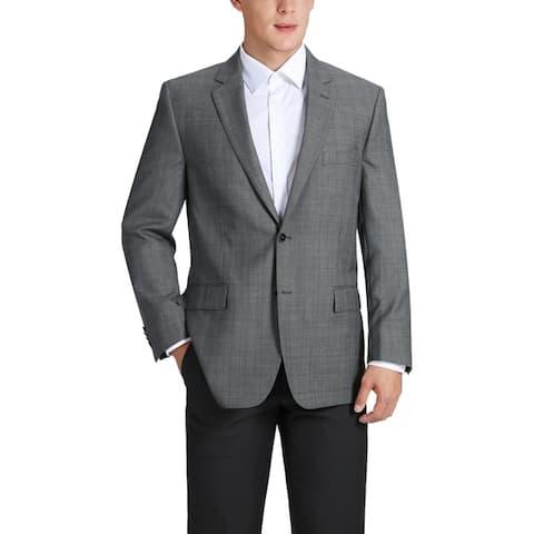 Men's Classic Fit Plaid Wool Sport Coat
