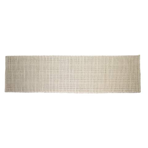 Woolen Silk Rib Accent Rug Available in Multiple Sizes & Colors