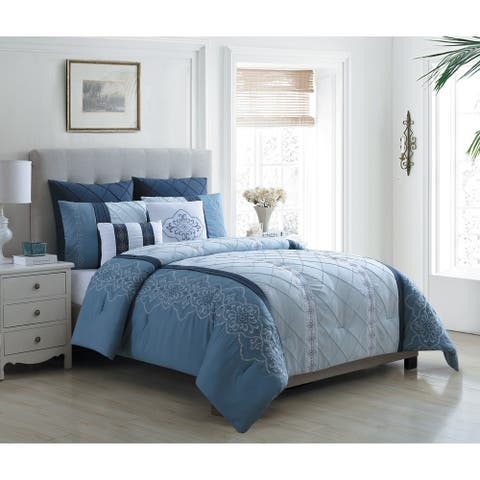 VCNY Home Carmie Embroidered Medallion Comforter Set