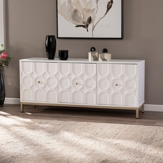 Link to Strick & Bolton Gibbfield Contemporary White Wood Accent Cabinet Similar Items in Bookshelves