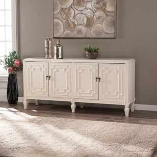 Copper Grove Taborley Transitional White Wood Accent Cabinet