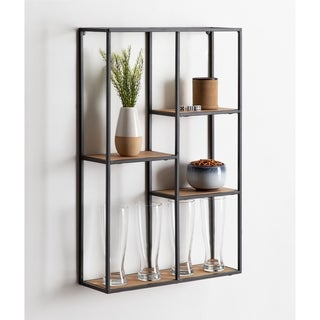 Kate and Laurel Ulna Large Modern Floating Wall Shelves - 20x6x30