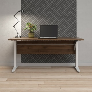 Pierce Height Adjustable Desk with White Legs