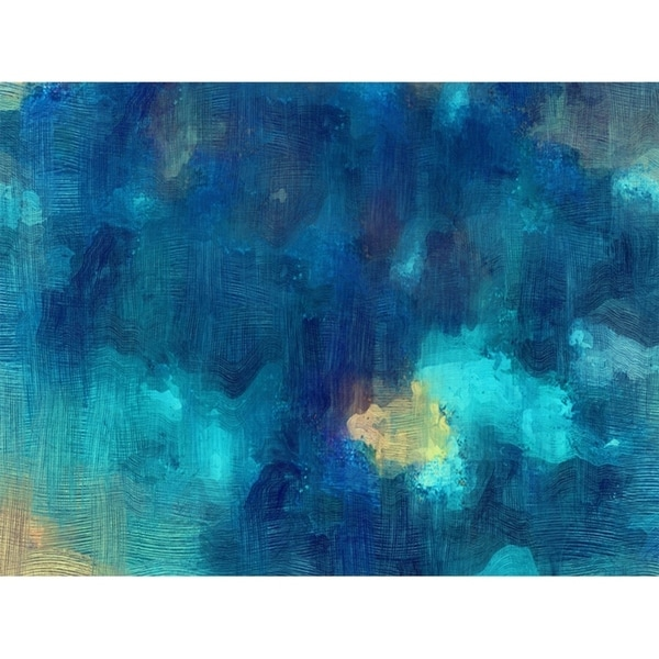 Blue Trowel Abstract Canvas Art