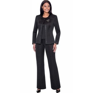 Link to Terramina Women's 3 Piece Black Pant Suit Similar Items in Suits & Suit Separates