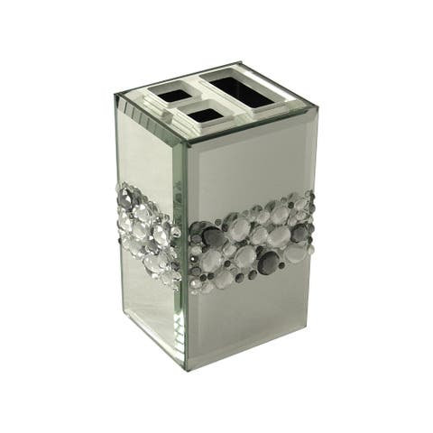 Harlow Tooth Brush Holder - Silver Mirror