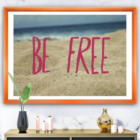 Designart 'Be Free' Cottage Framed Art Print