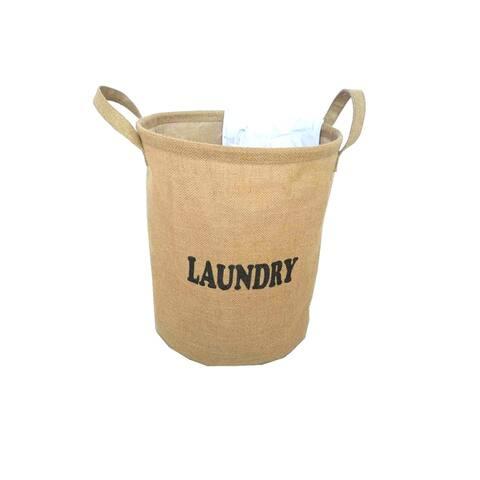 "Jute Laundry Hamper - 16.93""H"