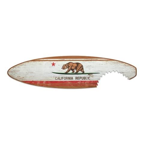 16 x 60 California Flag Surfboard