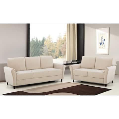 Corel Velvet Living Room Set- Sofa and Loveseat