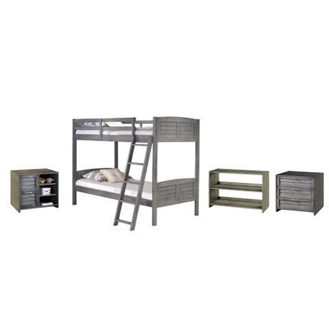 Twin over Twin Bunk with Case Goods