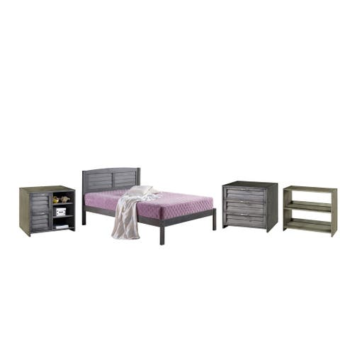Twin Bed with Case Goods