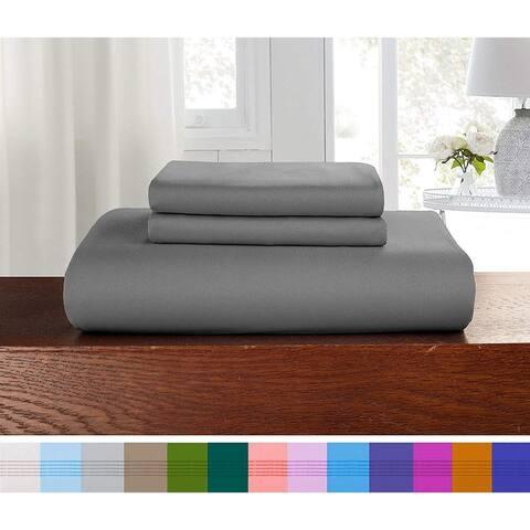 Porch & Den Sedona Solid Color 3-Piece Duvet Cover Set with Button Closure