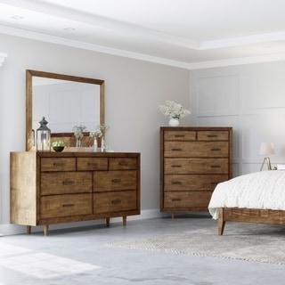 Abbyson Retro Mid Century 7 Drawer Wood Dresser