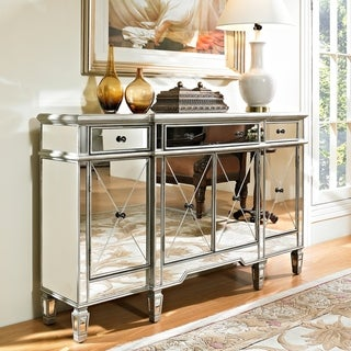 Silver Orchid Haid Mirrored Console Table