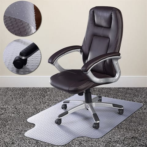 Transparent PVC Eco-friendly Material Soft Rubber Office Chair Mat Pads by Direct Wicker