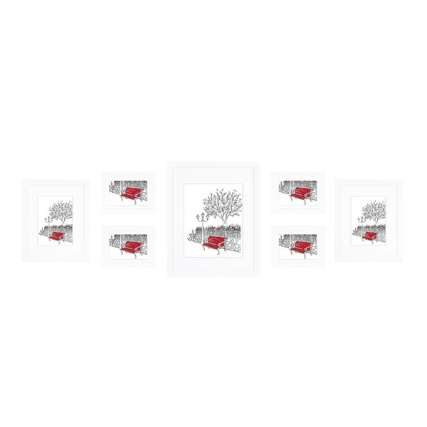 Parkwood Gallery Matted Set in White - 7 Piece Assorted