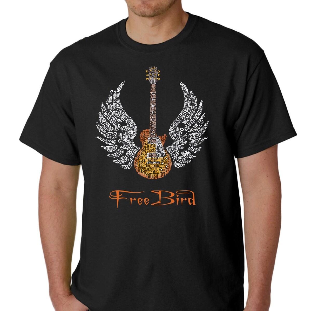 meet a45dd b6be0 Skynyrd Men's Rock & Roll Freebird 'Lyric' T-shirt