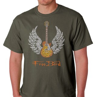 Skynyrd Men's Rock & Roll Freebird 'Lyric' T-shirt (More options available)