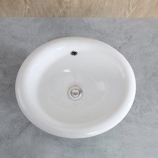 Shop Bathroom Top Mount Vanity Sink Porcelain Drop in ...