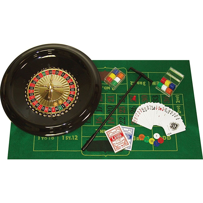 Roulette 16-inch Wheel with Layout and Chips Set