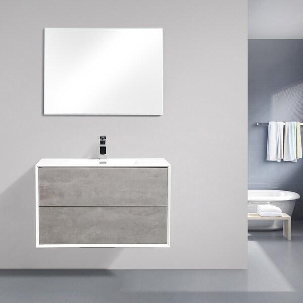 Eviva Vienna 36 in. Cement Grey Vanity