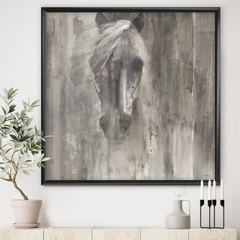 Designart 'Farmhouse Horse' Modern Farmhouse Framed Art Print