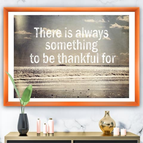 Designart 'There Is Always Something to Be Thankful For' Cottage Framed Art Print
