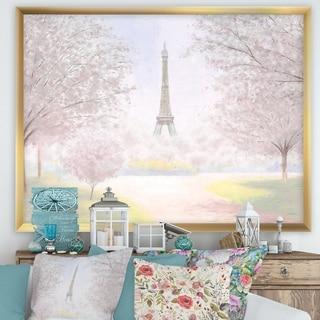 Designart 'Pretty Paris' Landscape Framed Art Print