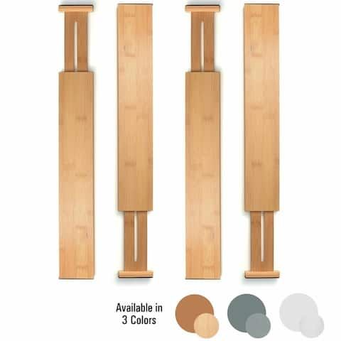 Bamboo Kitchen Drawer Organizer Bambusi Expandable Adjustable Divider