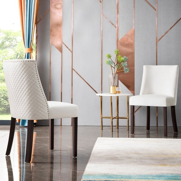 OVIOS Velvet Dining Chairs,Upholstered Accent Chair Set of 2,Kitchen Chairs with Brown Solid Wood Legs,Nailed Trim. Opens flyout.